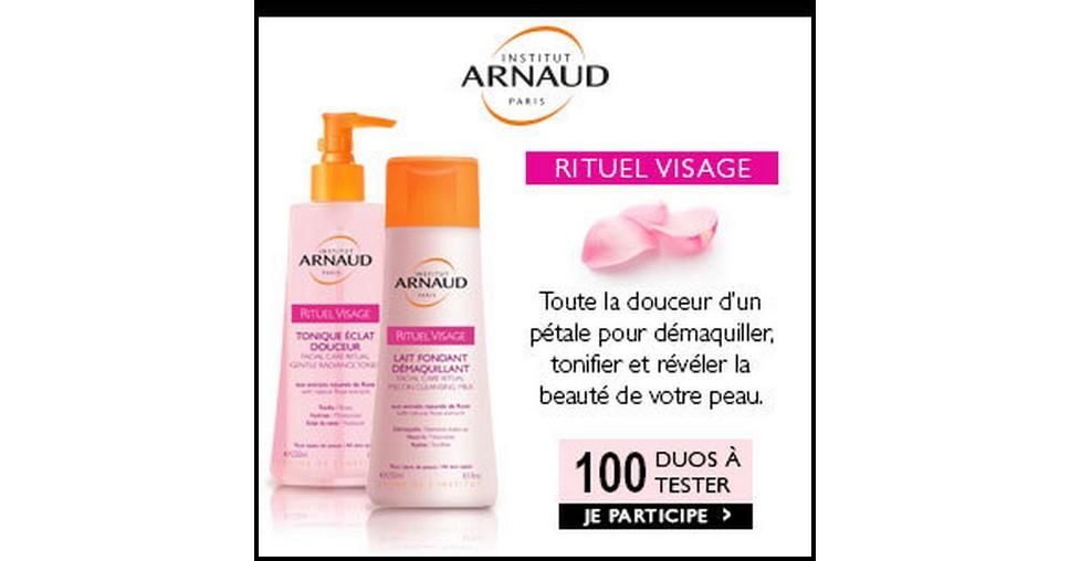 Test de Produit Beauté Addict : Duo Démaquillant Rituel Visage Institut Arnaud - anti-crise.fr
