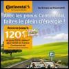 Bon Plan Continental : Carte Cadeau Total de 120 € Offerte pour l'achat de 4 Pneus- anti-crise.fr