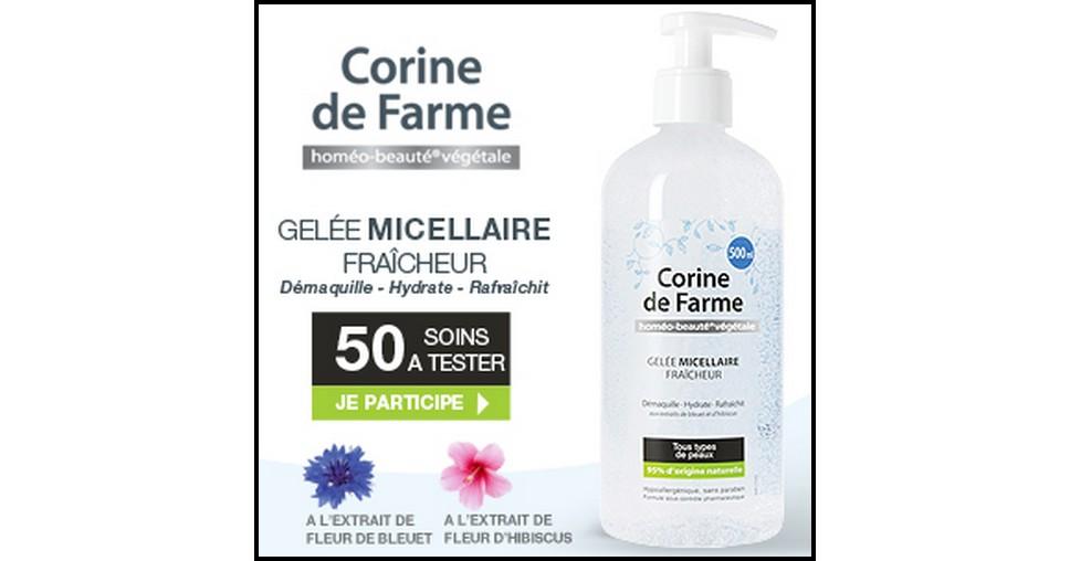 Test de Produit Beauté Test : Gelée Micellaire Fraîcheur de Corine de Farme - anti-crise.fr