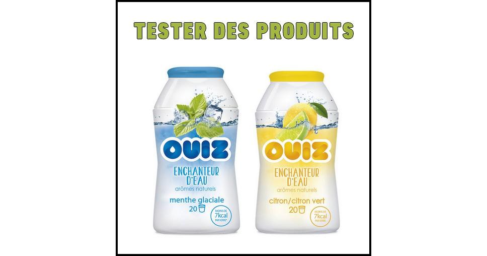 Test de Produit Tester des Produits : OUIZ Enchanteur d'eau - Arômes Menthe glaciale ou citron/citron vert - anti-crise.fr