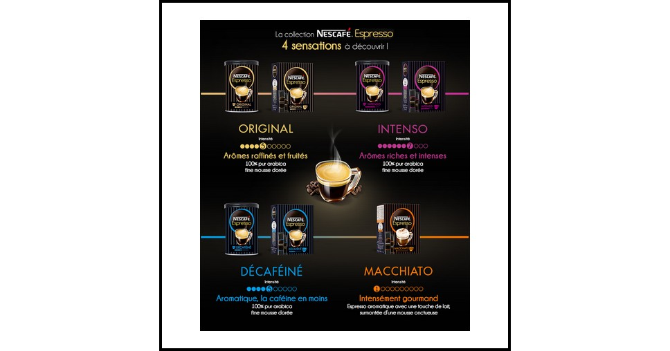 Echantillon Gratuit Nescafé : 4 Sensations Espresso - anti-crise.fr