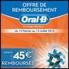 Offre de Remboursement (ODR) Oral B : 45 € sur Brosse à Dents Electrique + Paquet de Brossettes - anti-crise.fr