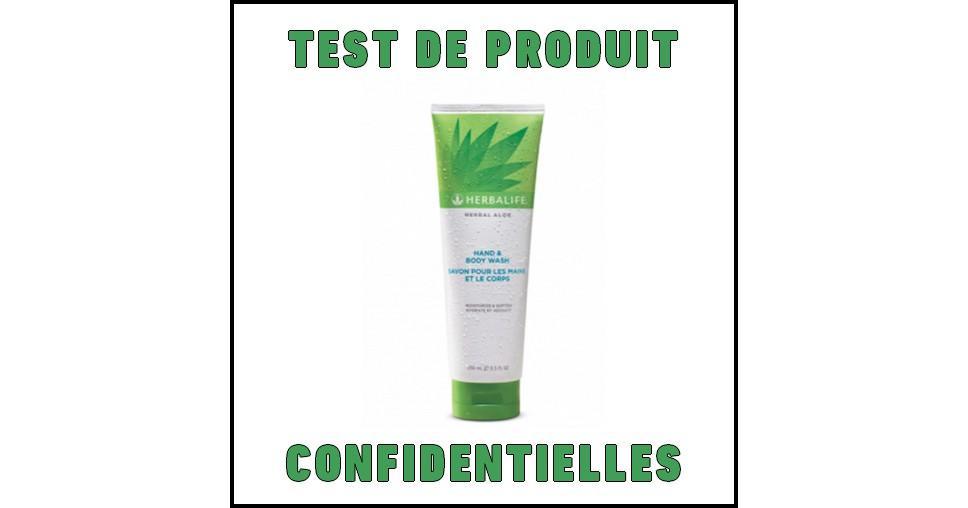 Test de Produit Confidentielles : Savon mains et corps Herbal Aloe Herbalife - anti-crise.fr