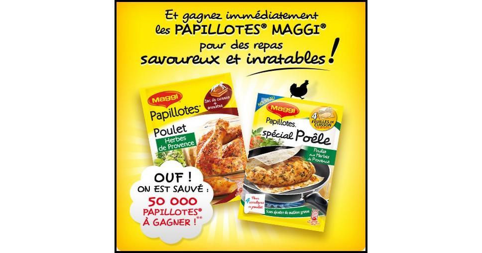 Echantillons Gratuits Maggi : Papillotes® Poulet aux Herbes de Provence - anti-crise.fr