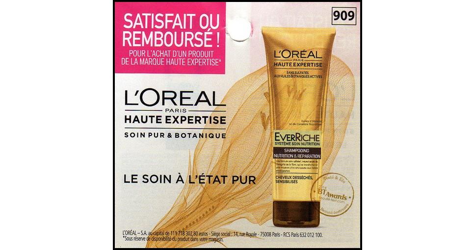 Offre de Remboursement (ODR) L'Oréal : Soin Pure & Botanique Haute Expertise Satisfait ou 100 % Remboursé - anti-crise.fr