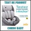 Test de Produit Conso Baby : Nouveau Siège Auto iSize i-Anchor Joie - anti-crise.fr