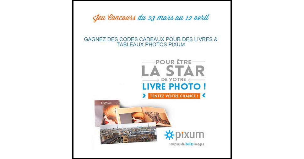 Instants Gagnants Confidentielles : Code cadeaux pour des livres & tableaux photos Pixum - anti-crise.fr