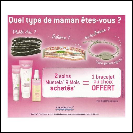 Bon Plan Mustela : 2 Soins Achetés = 1 Bracelet Bijoux de Mode Offert - anti-crise.fr