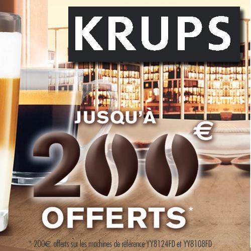 Offre de Remboursement (ODR) Krups : 200 € sur Machine Espresso avec Broyeur de Grains - anti-crise.fr