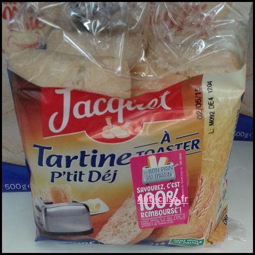 Offre de Remboursement (ODR) Jacquet : Tartine à Taoster P'tit Déj 100 % Remboursé en 2 Bons - anti-crise.fr