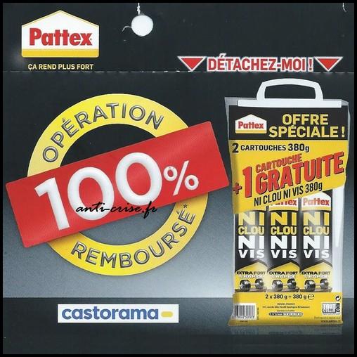 Offre de Remboursement (ODR) Pattex / Castorama : Cartouches Ni Clou Ni Vis 100 % Remboursées - anti-crise.fr