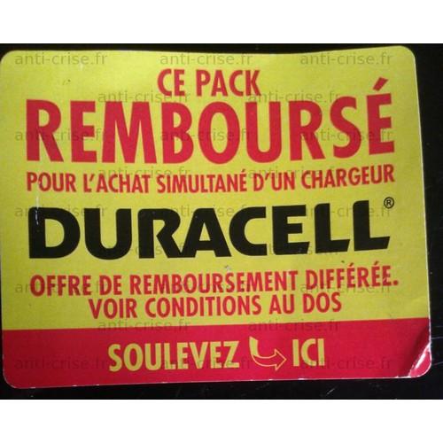 Offre de Remboursement (ODR) Duracell : Pack de Piles 100 % Remboursé - anti-crise.fr
