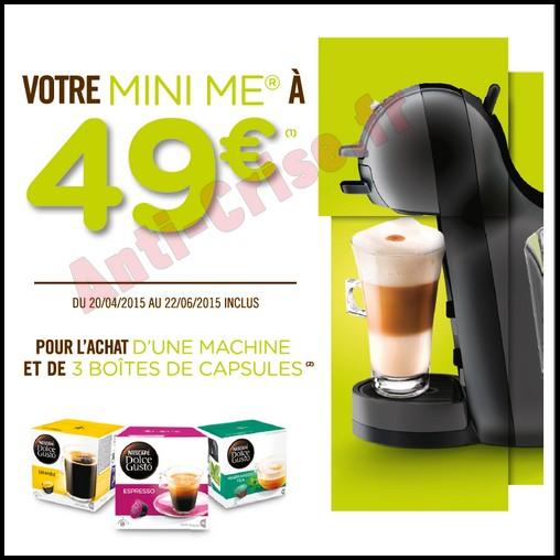 Offre de Remboursement (ODR) Krups : Machine Nescafé® Dolce Gusto® Mini Me® à 49 € - anti-crise.fr
