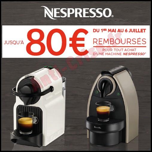 Offre de Remboursement (ODR) Krups : 80 € sur Machine Nespresso System - anti-crise.fr