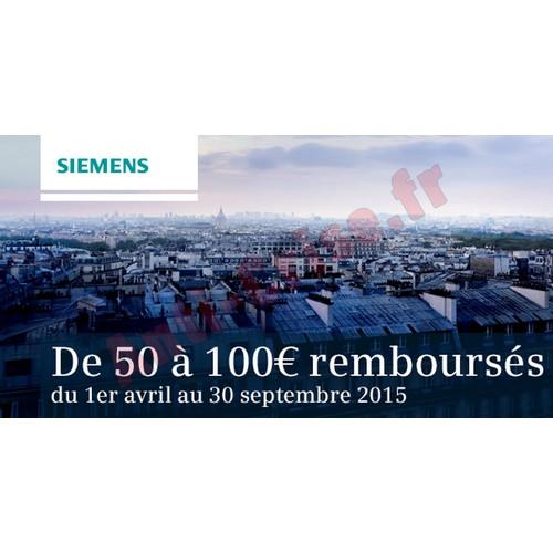Offre de Remboursement (ODR) Siemens : Jusqu'à 100 € sur Electroménager - anti-crise.fr