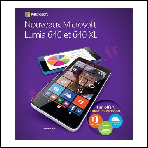 Bon plan microsoft lumia 640 abonnement d 39 un an gratuit - Office 365 comment ca marche ...