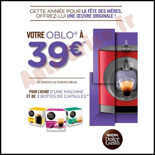 Offre de Remboursement (ODR) Krups : Machine Nescafé® Dolce Gusto® OBLO® à 39 € - anti-crise.fr