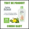 Test de Produit Conso Baby : Huile Corporelle Bébé Corine de Farme - anti-crise.fr