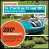Offre de Remboursement (ODR) Gardena : 200 € sur Robot de Tonte - anti-crise.fr
