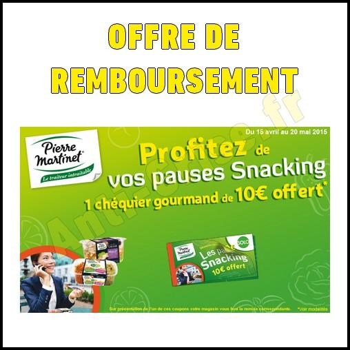 Offre de Remboursement (ODR) Pierre Martinet : 1Chéquier de 10 € Offert - anti-crise.fr
