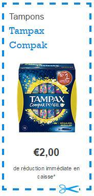 Optimisation 2 Boîtes de Tampax Compak Gratuites chez Lidl bon de réduction