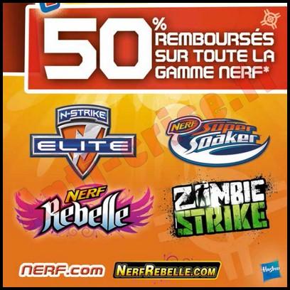 Offre de Remboursement Hasbro : 50 % sur toute la Gamme Nerf - anti-crise.fr