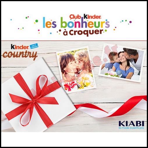 Instants Gagnants Kinder Country : Un bon de réduction KIABI d'une valeur de 75,00 € à Gagner - anti-crise.fr
