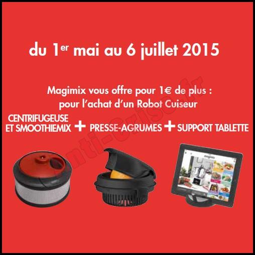 Bon Plan Magimix : Centrifugeuse et SmoothieMix, Presse-agrumes et Support de Tablette Offerts pour 1 € de Plus - anti-crise.fr