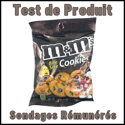 Test de Produit Sondages Rémunérés : Mini Cookies M&M's - anti-crise.fr