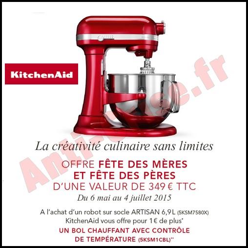 Bon Plan Kitchen Aid : Bol Chauffant avec contrôle de température Offert pour 1 € de Plus - anti-crise.fr