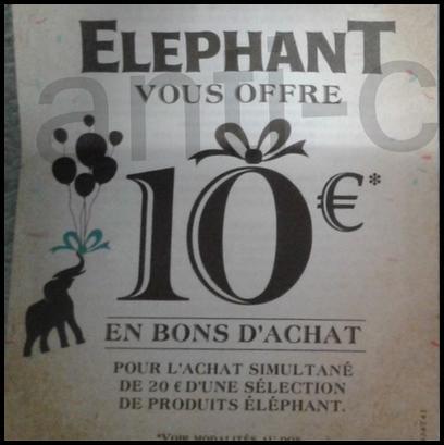 Offre de Remboursement Elephant : 10 € pour 20 € de Produits Achetés - anti-crise.fr