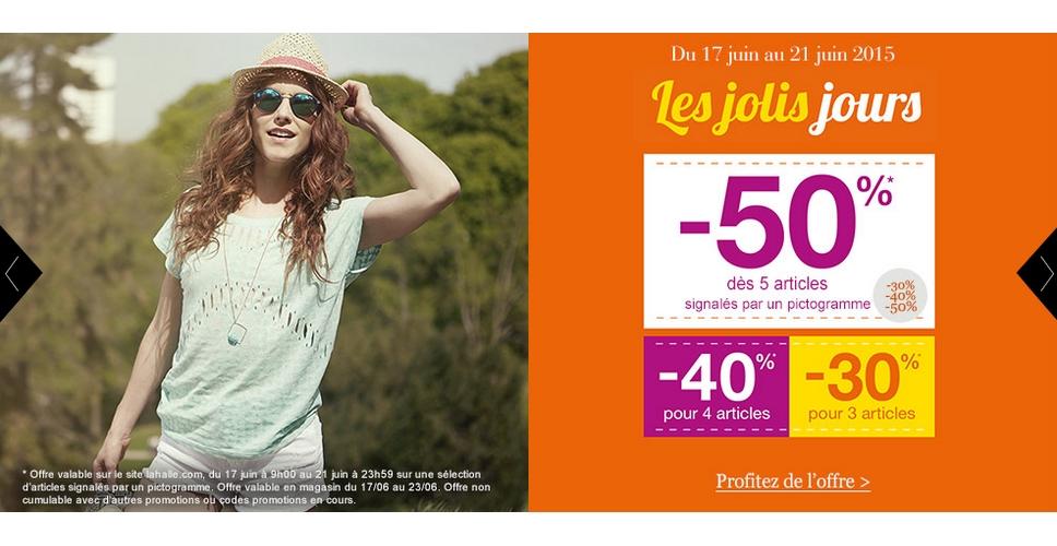 Bon Plan La Halle -50 dès 5 Articles Achetés