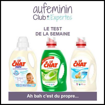 Test de Produit Au Féminin : Lessive Le Chat Bébé - anti-crise.fr