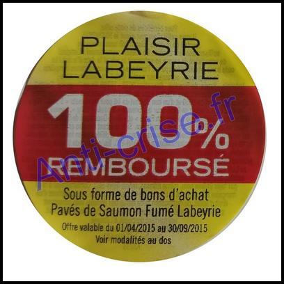 Offre de Remboursement Labeyrie : Pavé de Saumon Fumé 100 % Remboursé en Bons - anti-crise.fr