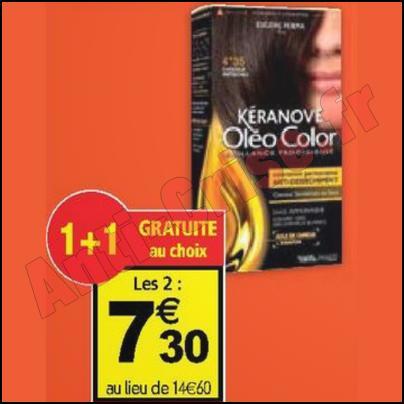 Optimisation Coloration Kéranove à 3,30 € chez Auchan - anti-crise.fr