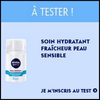 Test de Produit Nivéa Men : Soin Hydratant Fraîcheur Peau Sensible » X065 - anti-crise.fr