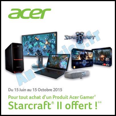 Bon Plan Acer : Starcraft® II offert pour l'achat d'un Produit Gamer - anti-crise.fr