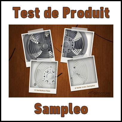Test de Produit Sampleo : Ventilateur de Table Design - anti-crise.fr