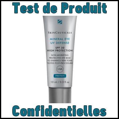 Test de Produit Confidentielles : Soin Minéral Eye UV Défense de Skinceuticals - anti-crise.fr