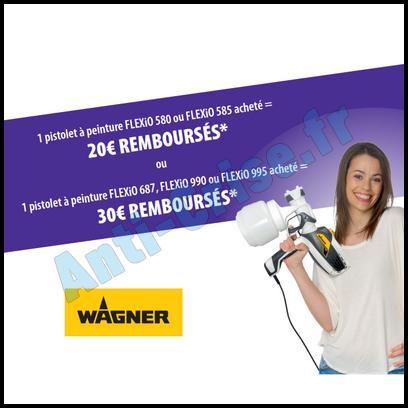 Offre de Remboursement Wagner : 30 € sur Pistolet à Peinture FLEXiO - anti-crise.fr