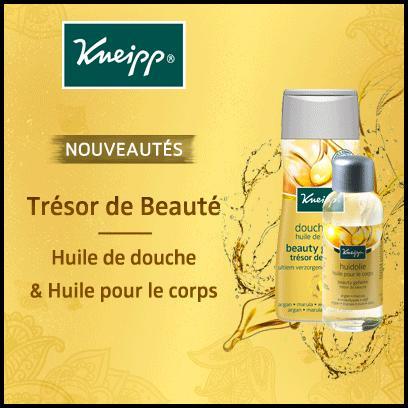 Test de Produit Beauté Test : Duo Huile de Douche et Huile pour le Corps Trésor de Beauté de Kneipp - anti-crise.fr