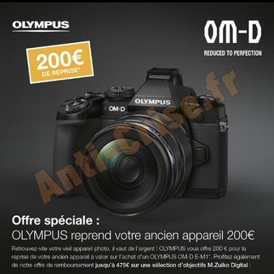 Offre de Remboursement Olympus : 200 € sur Appareil Photo OM-D E-M1 - anti-crise.fr