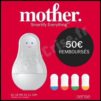 Offre de Remboursement Sen.se : 50 € sur Pack Mother + 4 capteurs Motion Cookies - anti-crise.fr