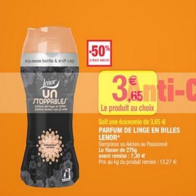 Optimisation Lénor Unstoppables à 65 centimes chez Magasin U - anti-crise.fr