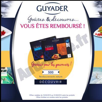 Offre de Remboursement Guyader : Saumon Fumé Supérieur 100 % Remboursé - anti-crise.fr