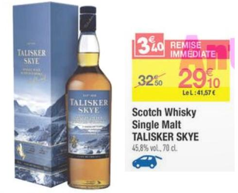 bon de reduction sur le whisky à carrefour