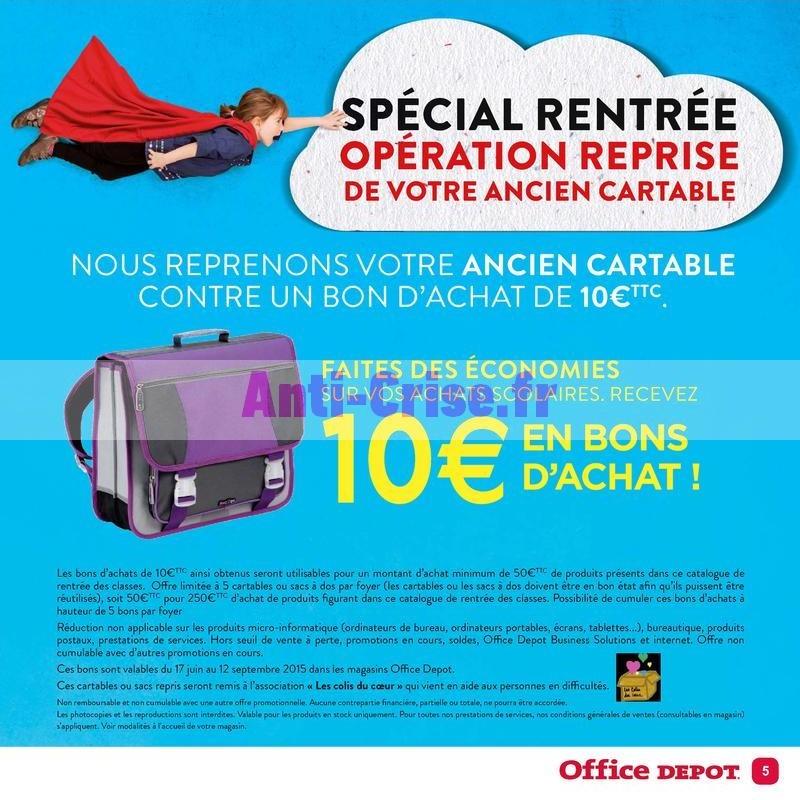 code promo 65462 4409d Bon Plan Rentrée Scolaire - Opération Reprise de Cartable ...