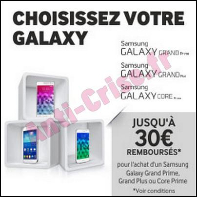 Offre de Remboursement Samsung : 30 € sur Smartphone Galaxy - anti-crise.fr