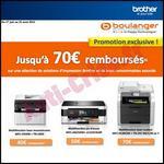 Offre de Remboursement Brother / Boulanger : 70 € sur Multifonction + Consommable - anti-crise.fr