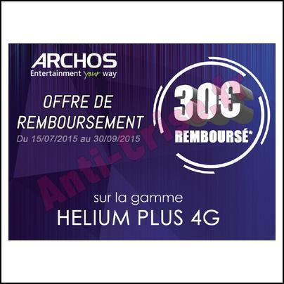 Offre de Remboursement Archos : 30 € sur Smartphone Helium Plus - anti-crise.fr